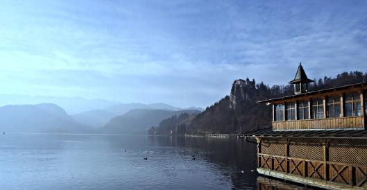 bled slovenia lake fog
